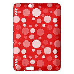 Polka Dots Kindle Fire Hdx Hardshell Case by Valentinaart