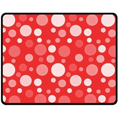 Polka Dots Double Sided Fleece Blanket (medium)  by Valentinaart