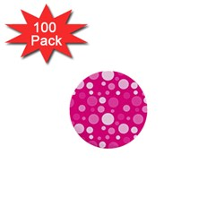 Polka Dots 1  Mini Buttons (100 Pack)  by Valentinaart