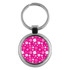 Polka Dots Key Chains (round)  by Valentinaart