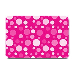 Polka Dots Small Doormat  by Valentinaart
