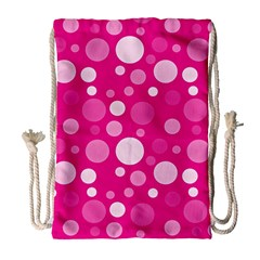 Polka Dots Drawstring Bag (large) by Valentinaart