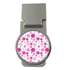Polka Dots Money Clips (round)  by Valentinaart