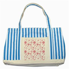 Polka Dots Striped Blue Tote Bag by Valentinaart