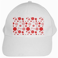 Polka Dots White Cap by Valentinaart