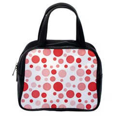 Polka Dots Classic Handbags (one Side) by Valentinaart