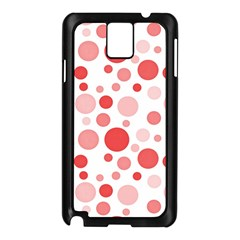 Polka Dots Samsung Galaxy Note 3 N9005 Case (black) by Valentinaart
