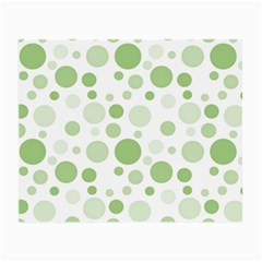 Polka Dots Small Glasses Cloth (2 Side) by Valentinaart