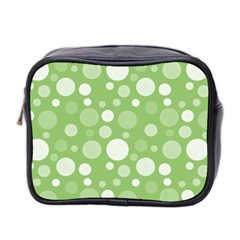 Polka Dots Mini Toiletries Bag 2 Side by Valentinaart
