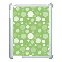 Polka Dots Apple Ipad 3/4 Case (white) by Valentinaart