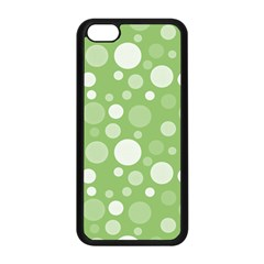 Polka Dots Apple Iphone 5c Seamless Case (black) by Valentinaart