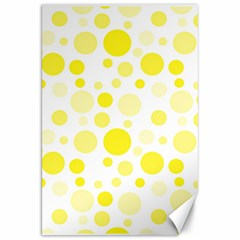 Polka Dots Canvas 20  X 30   by Valentinaart
