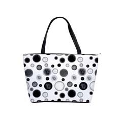 Polka Dots Shoulder Handbags by Valentinaart
