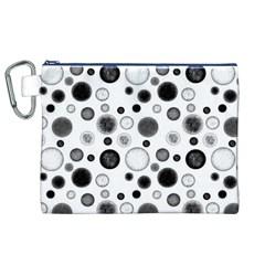 Polka Dots Canvas Cosmetic Bag (xl) by Valentinaart