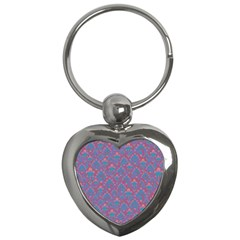 Pattern Key Chains (heart)  by Valentinaart