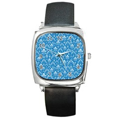 Pattern Square Metal Watch by Valentinaart