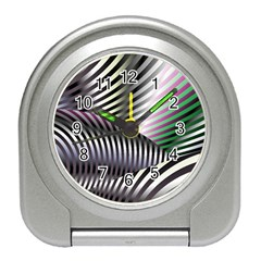 Fractal Zebra Pattern Travel Alarm Clocks by Simbadda