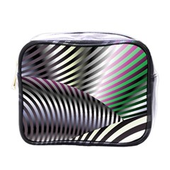 Fractal Zebra Pattern Mini Toiletries Bags by Simbadda