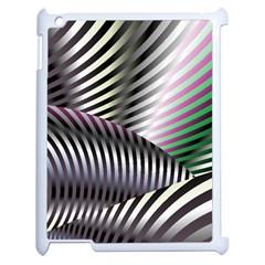 Fractal Zebra Pattern Apple Ipad 2 Case (white) by Simbadda