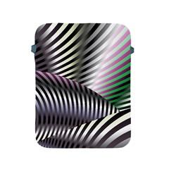Fractal Zebra Pattern Apple Ipad 2/3/4 Protective Soft Cases by Simbadda