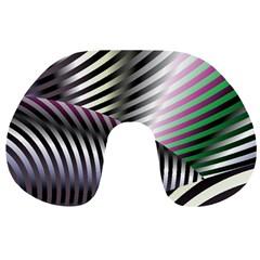 Fractal Zebra Pattern Travel Neck Pillows by Simbadda