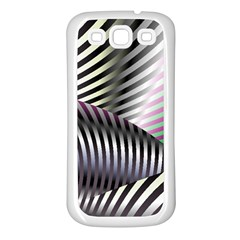 Fractal Zebra Pattern Samsung Galaxy S3 Back Case (white) by Simbadda