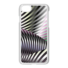 Fractal Zebra Pattern Apple Iphone 7 Seamless Case (white) by Simbadda