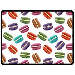 Macaroons  Double Sided Fleece Blanket (large)  by Valentinaart