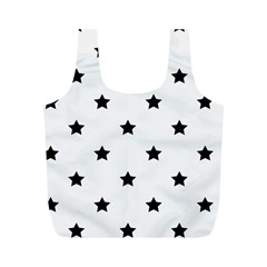 Stars Pattern Full Print Recycle Bags (m)  by Valentinaart