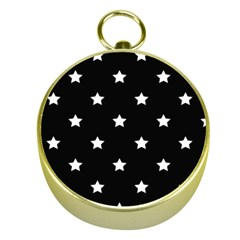 Stars Pattern Gold Compasses by Valentinaart