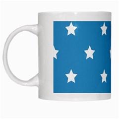 Stars Pattern White Mugs by Valentinaart