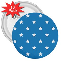 Stars Pattern 3  Buttons (10 Pack)  by Valentinaart