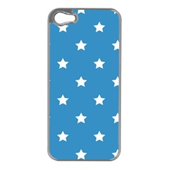 Stars Pattern Apple Iphone 5 Case (silver) by Valentinaart
