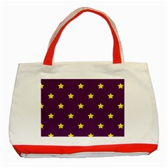 Stars Pattern Classic Tote Bag (red) by Valentinaart