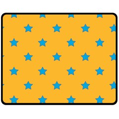 Stars Pattern Fleece Blanket (medium)  by Valentinaart