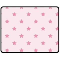 Stars Pattern Fleece Blanket (medium)  by Valentinaart