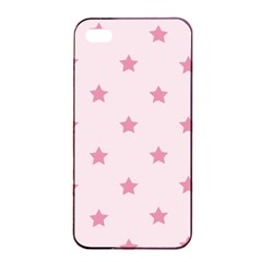 Stars Pattern Apple Iphone 4/4s Seamless Case (black) by Valentinaart