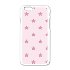 Stars Pattern Apple Iphone 6/6s White Enamel Case by Valentinaart