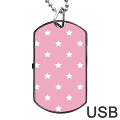 Stars Pattern Dog Tag Usb Flash (one Side) by Valentinaart