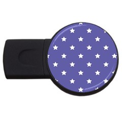 Stars Pattern Usb Flash Drive Round (2 Gb) by Valentinaart