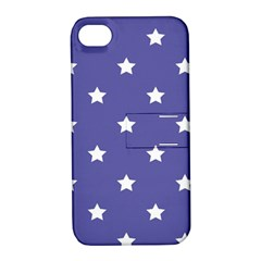 Stars Pattern Apple Iphone 4/4s Hardshell Case With Stand by Valentinaart