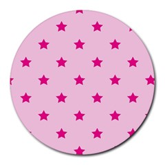 Stars Pattern Round Mousepads by Valentinaart