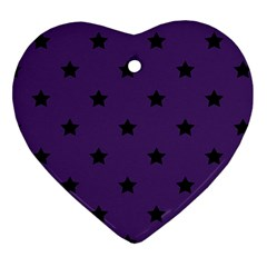 Stars Pattern Ornament (heart) by Valentinaart