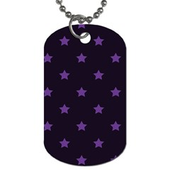 Stars Pattern Dog Tag (two Sides) by Valentinaart