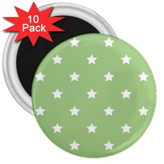 Stars Pattern 3  Magnets (10 Pack)  by Valentinaart