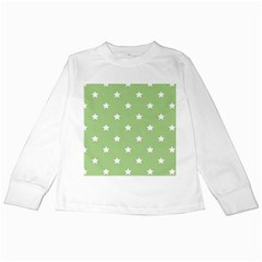 Stars Pattern Kids Long Sleeve T Shirts by Valentinaart