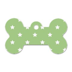Stars Pattern Dog Tag Bone (two Sides) by Valentinaart