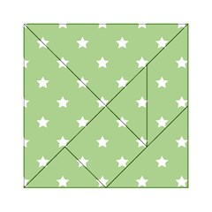 Stars Pattern Acrylic Tangram Puzzle (6  X 6 ) by Valentinaart