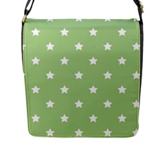 Stars Pattern Flap Messenger Bag (l)  by Valentinaart