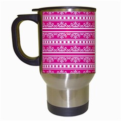Pattern Travel Mugs (white) by Valentinaart